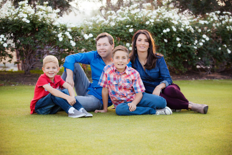 family portraits, holiday portraits, family of four, toscana country club,